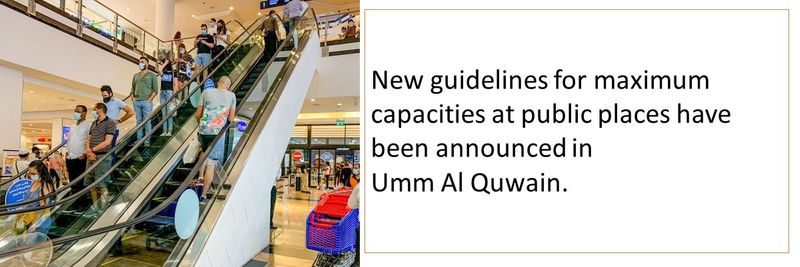 New guidelines for maximum capacities at public places have been announced in  Umm Al Quwain.