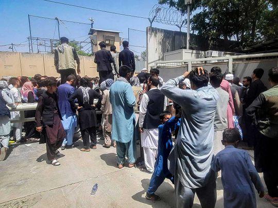 Afghan French embassy kabul