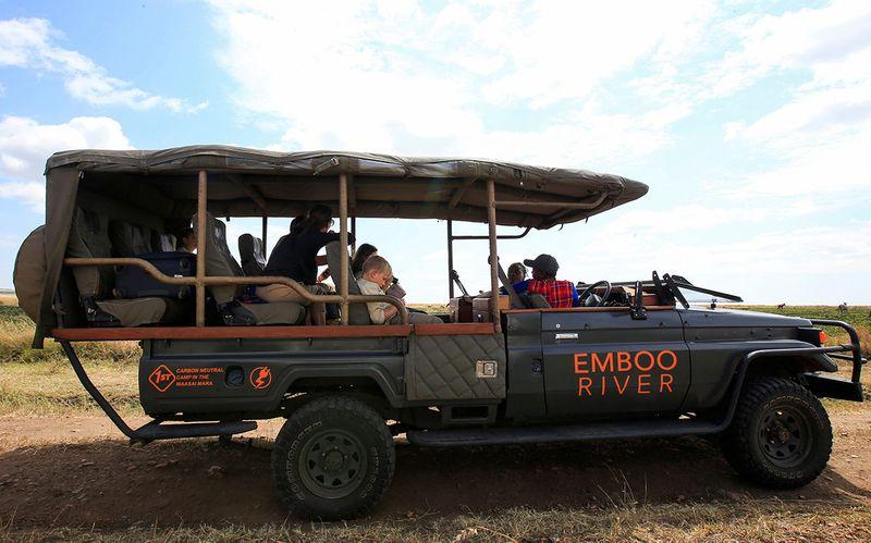 Eco-friendly vehicles in Maasai Mara
