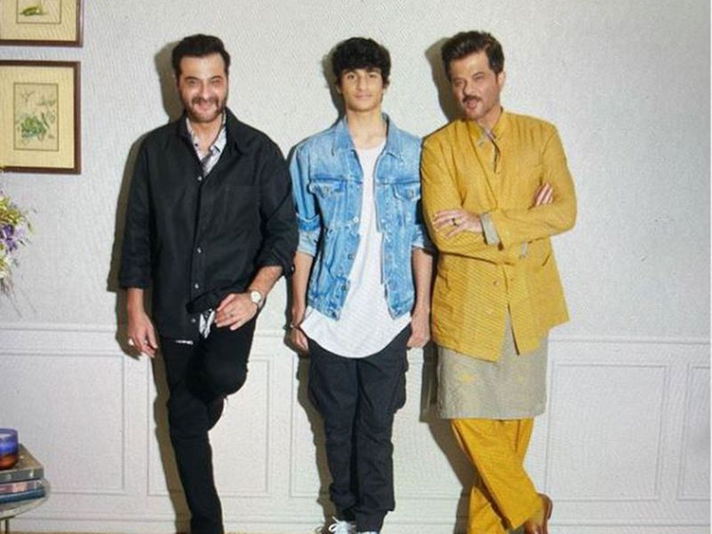 Sanjay Kapoor with his son and brother Anil Kapoor