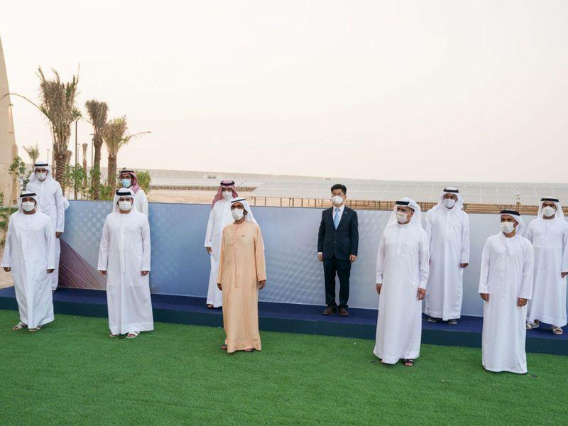 Sheikh Mohammed at the launch of new production phase in Mohammed bin Rashid Al Maktoum Solar Park