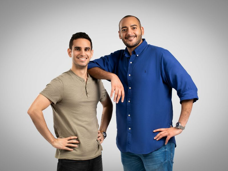 Stock - invygo founders Eslam-Hussein (right) and Pulkit Ganjoo