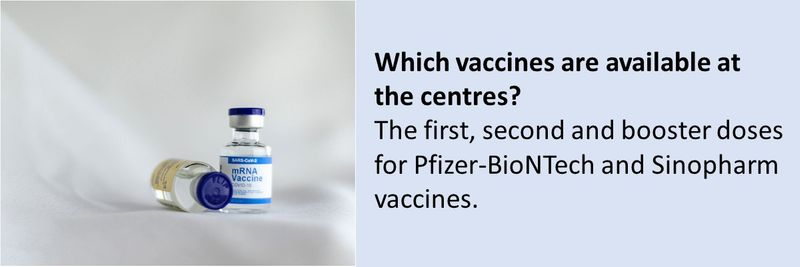 Two new vaccination centres have opened up for students
