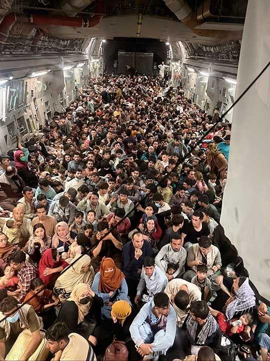 Afghan US air force plane