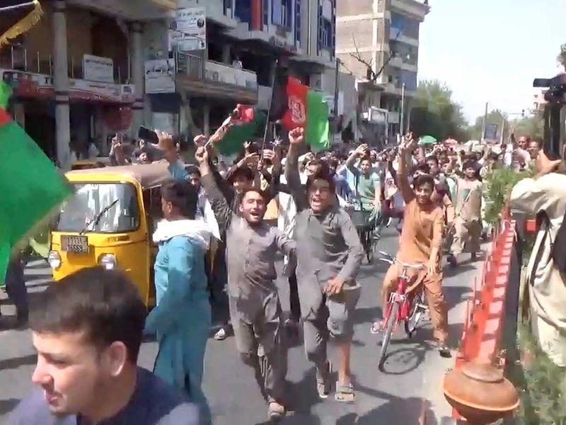 Afghan protest Jalalabad