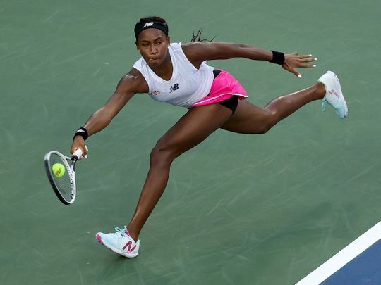 Coco Gauff defeated Su-Wei Hsieh of Taiwan at the Western & Southern Open