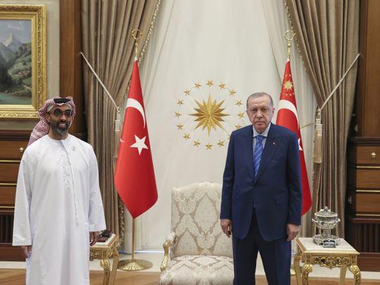 Emirati delegation in Turkey