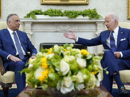Kadhimi Biden meet