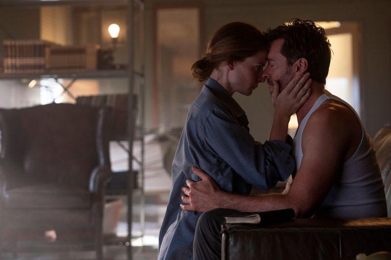 Rebecca Ferguson and Hugh Jackman in 'Reminiscence'