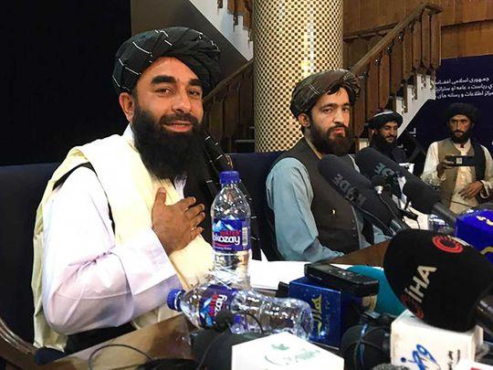 Taliban spokesperson Zabihullah Mujahid AFghan kabul