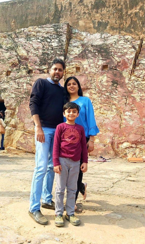 Aarav with parents Vishal and Navita Maskara-1629349588625