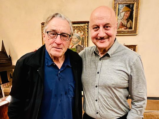 Robert De Niro and Anupam Kher