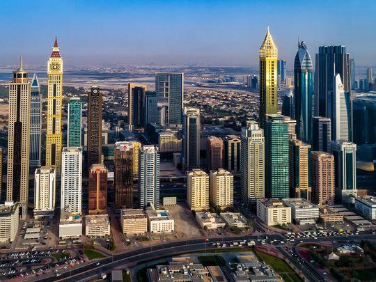 STOCK DUBAI PROPERTY SKYLINE