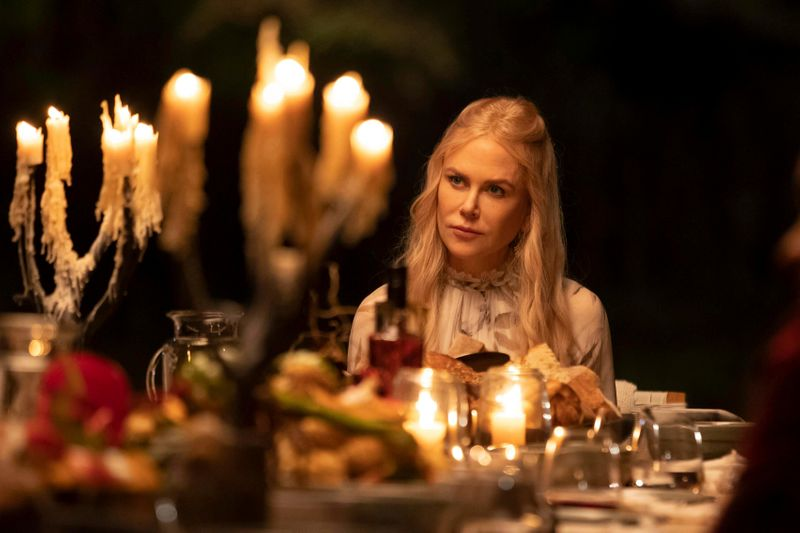 This image released by Hulu shows Nicole Kidman in a scene from the series