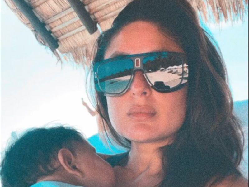 Kareena Kapoor with son Jeh in the Maldives