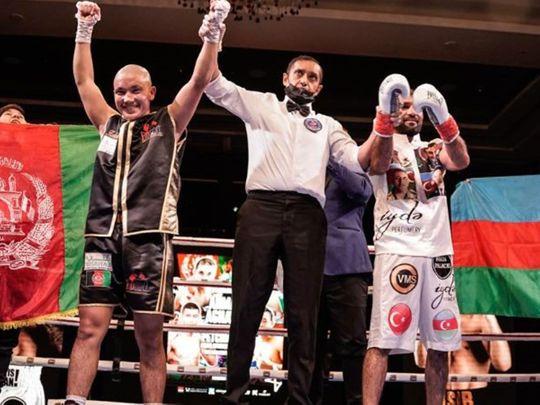 Hasibullah 'Hasib' Ahmadi was crowned WBC Asia featherweight champion at the Conrad hotel in Dubai for D4G's 'Rising Stars' event