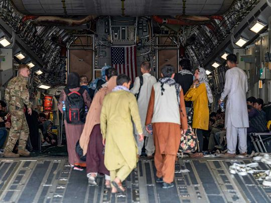 us AIR force plane afghan evacuate kabul