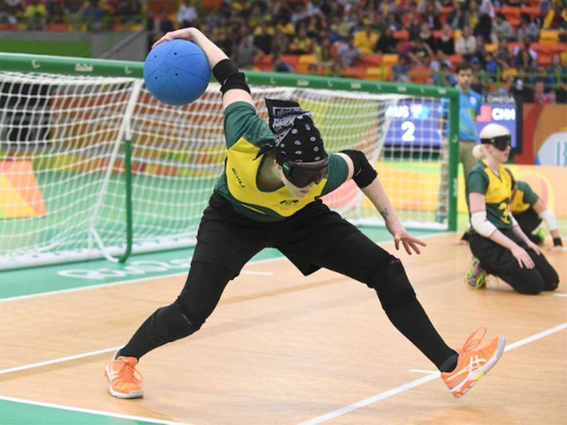 Meica Horsburgh represents Australia in goalball