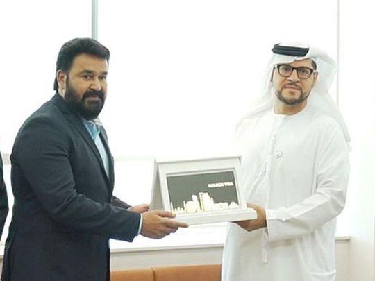 Mohanlal gets the UAE Golden Visa