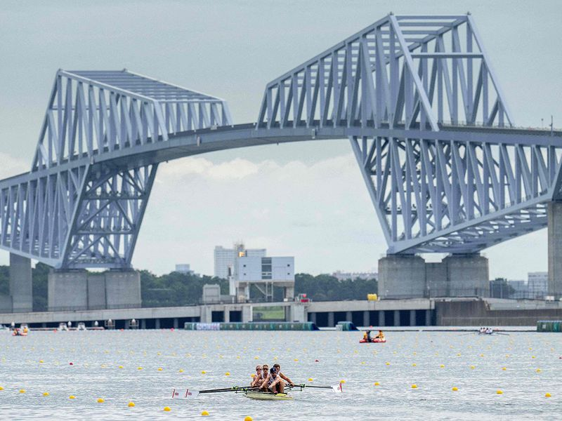Para athletes train at the Sea Forest Waterway ahead of the Tokyo 2020 Paralympic Games