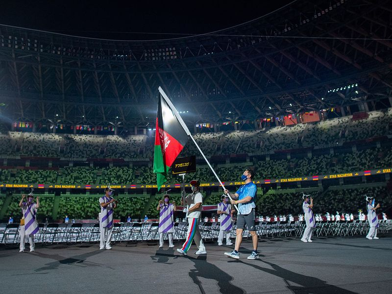 Afghanistan flag at Paralympics opening ceremony