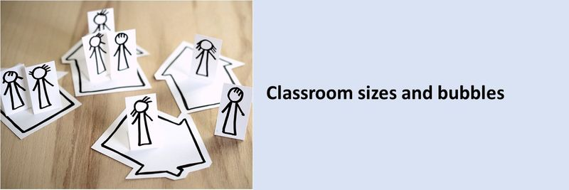 Classroom sizes and bubbles
