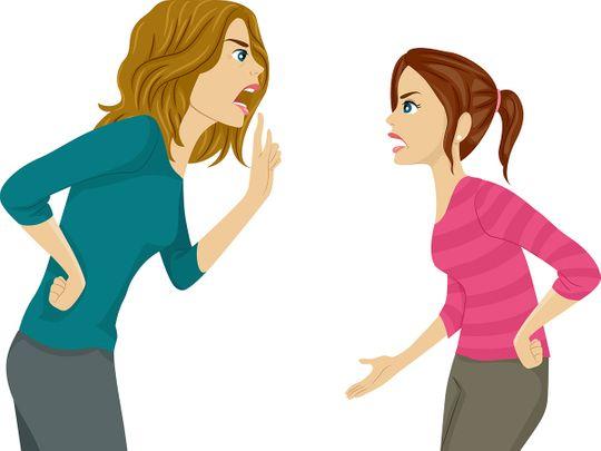 Mum-kid fighting