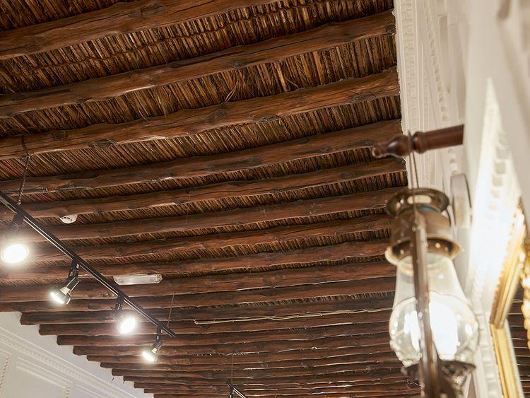 Palm leaf roof tops