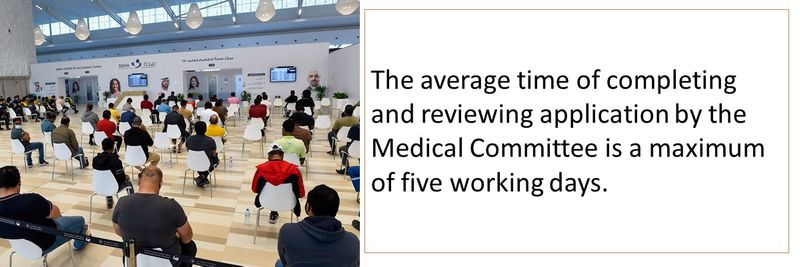 The average time of completing and reviewing application by the Medical Committee is a maximum of five working days.