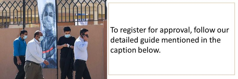 To register for approval, follow our detailed guide mentioned in the caption below.