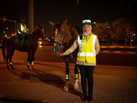 Halima Al Saadi, the first female mounted police-1629900047659