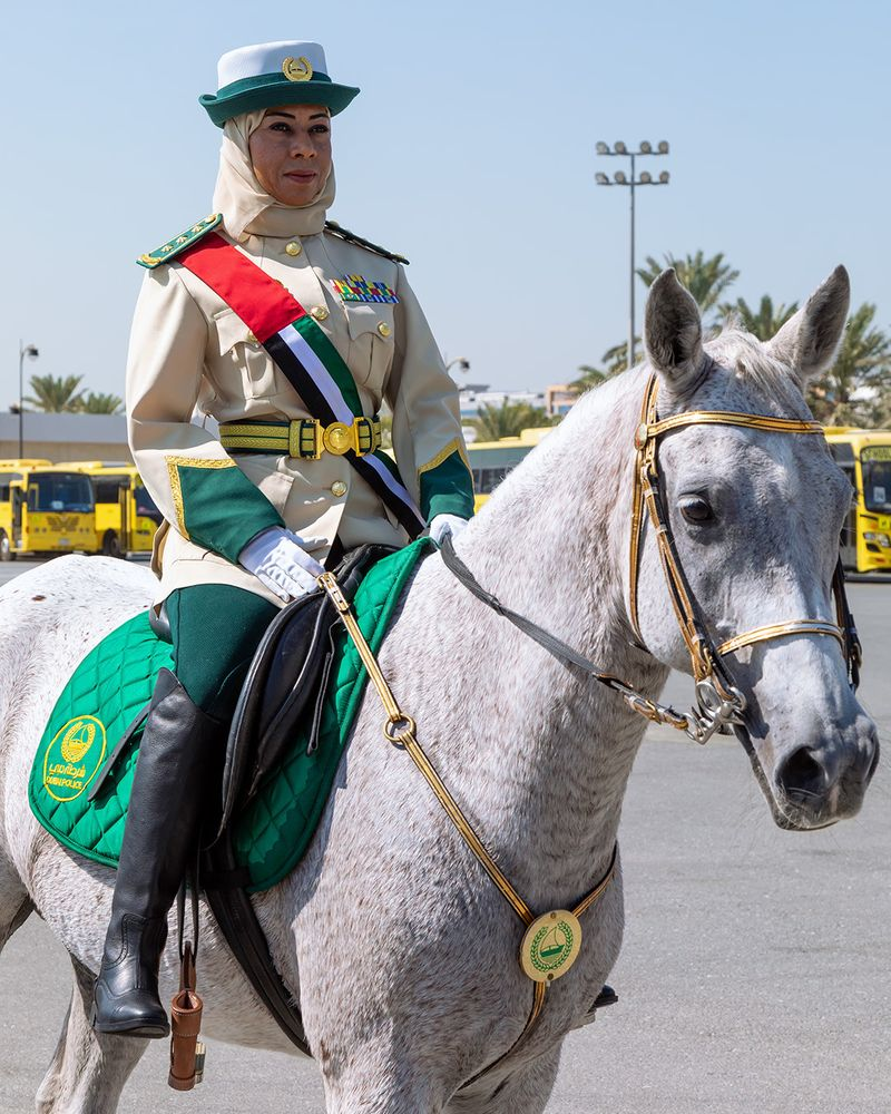 Halima Al Saadi, the first female mounted police 4-1629900049760