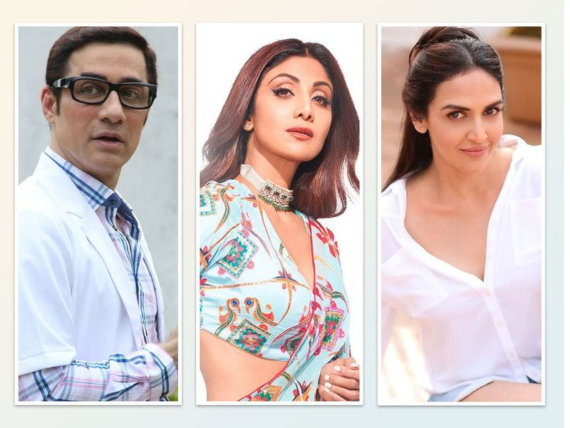 Faissal.khan, Shilpa Shetty and Esha Deol