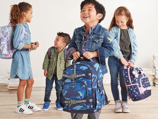 Kids and backpacks
