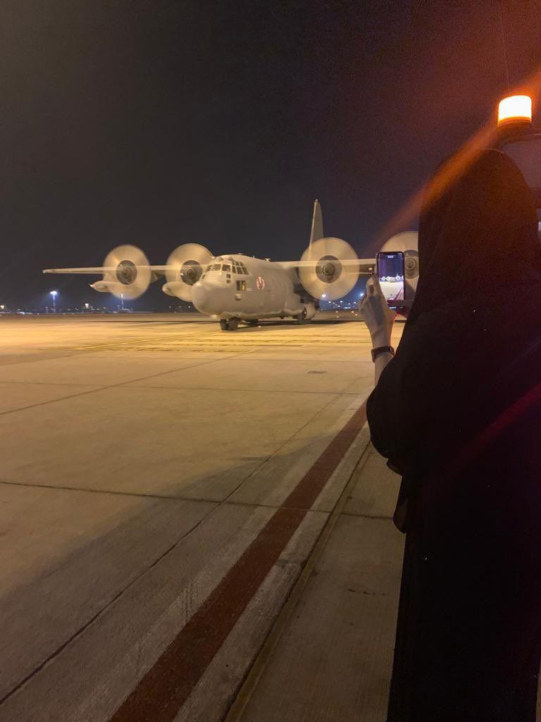 Afghan women children arrive in the UAE @AfraMalHameli