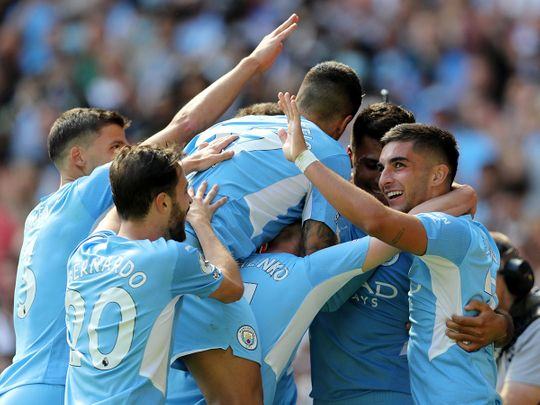 Manchester City hit Arsenal for five