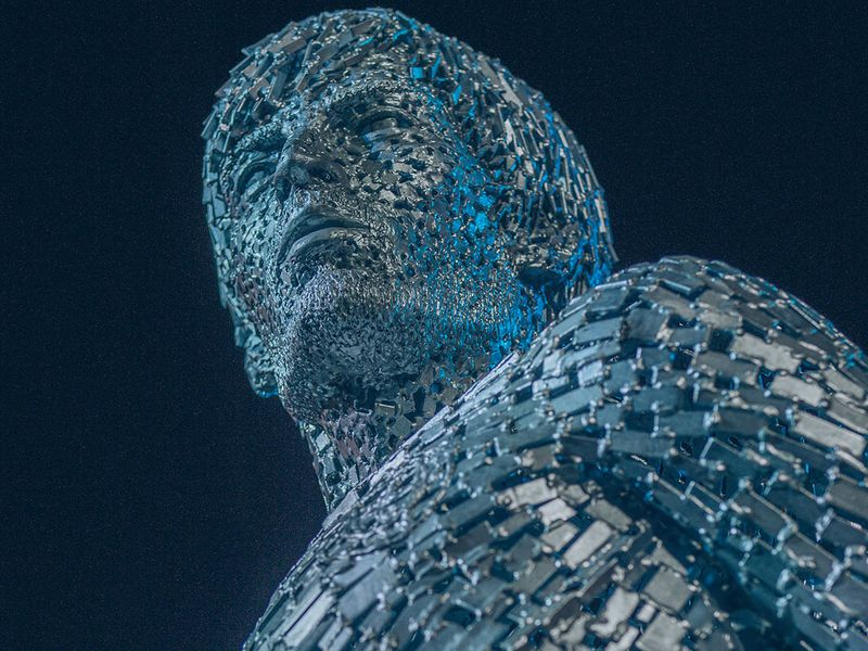 Manchester City unveil statues of Vincent Kompany and David Silva at Etihad Stadium