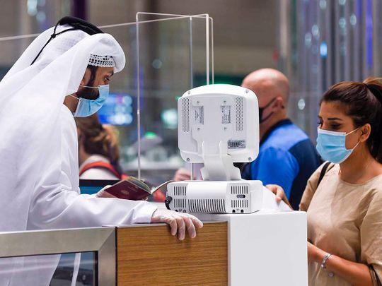 Dubai airport passengers