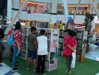 Free books for school students at Book Here Oasis Mall Branch