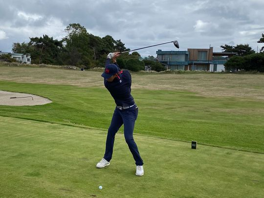 Josh Hill in action at the Jacques Leglise Trophy