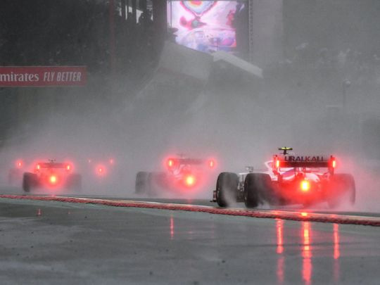 Rain destroys the Belgian F1 Grand Prix at the Spa-Francorchamps circuit