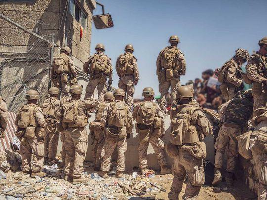 US marines Kabul Afghan airport