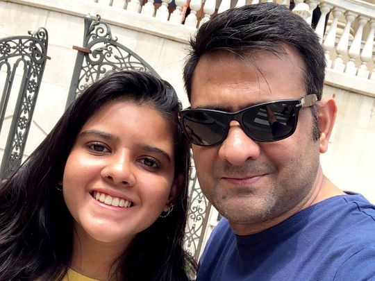 Arshad Zaheer with his daughter