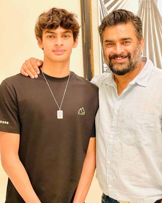 R Madhavan and his son Vedaant