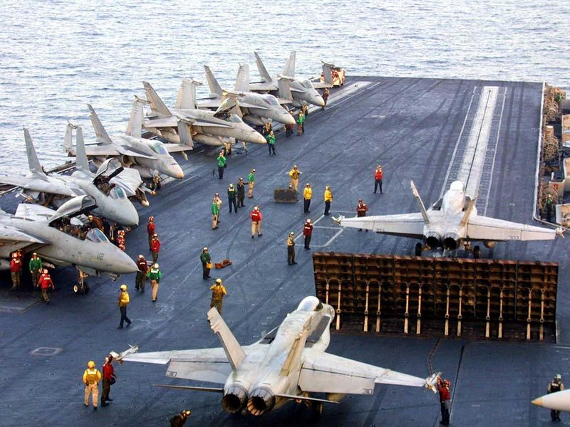 US aircraft carrier Afghanistan