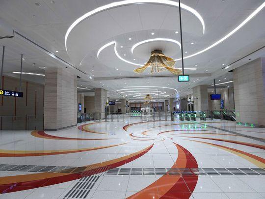 The new Jumeirah Golf Estates Metro station