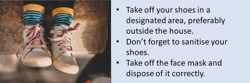 COVID-19 precautions to take when you return from school