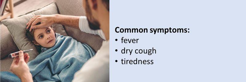 Common symptoms of COVID