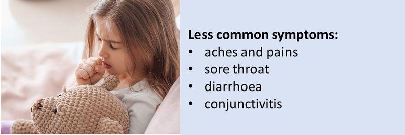 Less common COVID-19 symptoms