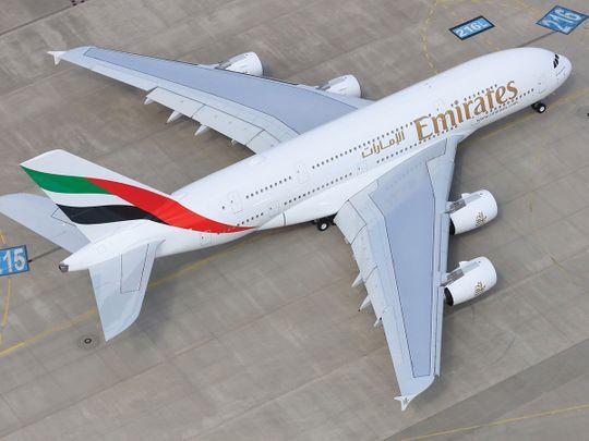 STOCK Emirates aircraft A380